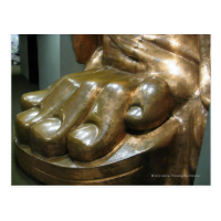 Statue of Liberty Toes Post Card