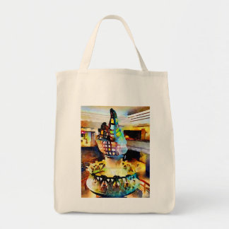Statue of Liberty torch watercolor Tote Bag