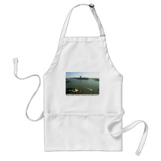 Statue of Liberty, Twin Towers May 2001 Adult Apron