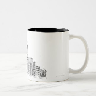 Statue of Liberty Two-Tone Coffee Mug