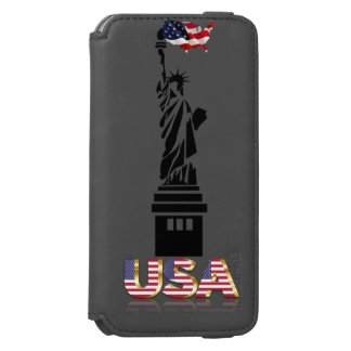 Statue of Liberty undulating flag iPhone 6/6s Wallet Case
