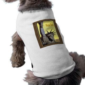 statue of liberty vintage pet t shirt
