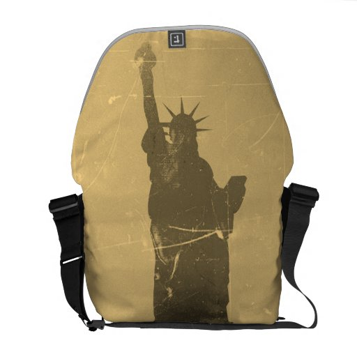 Statue of Liberty  Vintage - Messenger Bags