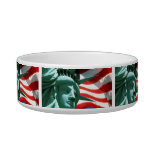 STATUE OF LIBERTY WITH AMERICAN FLAG PET BOWL