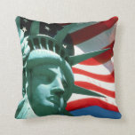 STATUE OF LIBERTY WITH AMERICAN FLAG PILLOWS