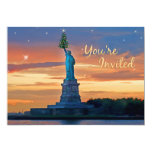 Statue of Liberty with Christmas Tree Invited Announcements