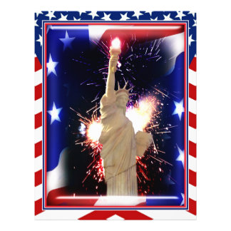 Statue of Liberty with Fireworks for 4th of July Flyer