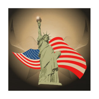 Statue of Liberty Wood Wall Art