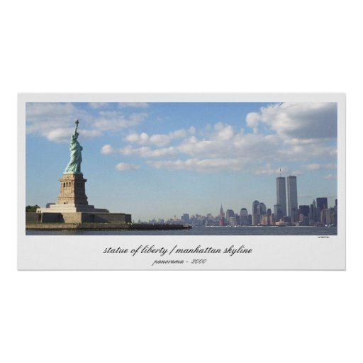 Statue of Liberty  World Trade Center Print