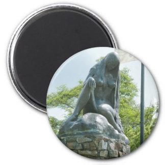 Statue of Lorelei Fridge Magnet
