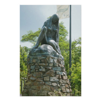 Statue of Lorelei Poster