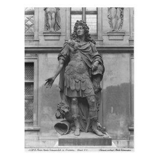 Statue of Louis XIV Postcard