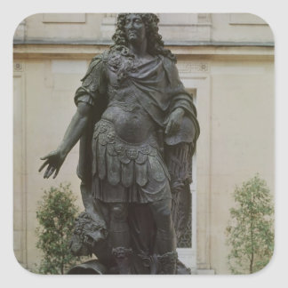 Statue of Louis XIV Square Sticker