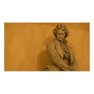 Statue Of Ludwig Van Beethoven Double-Sided Standard Business Cards (Pack Of 100)