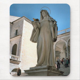 Statue of Mary, Montecassino Benedictine Abbey Mouse Pad