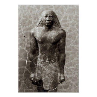 Statue of Mentuemhat, Governor of Thebes Poster