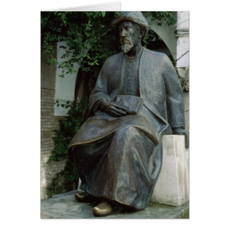 Statue of Moses Maimonides Card