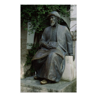 Statue of Moses Maimonides Poster