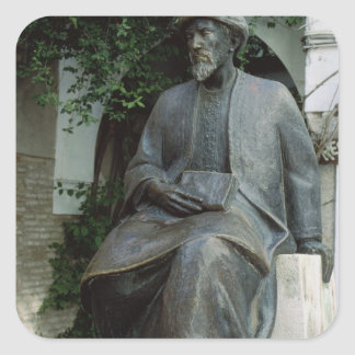Statue of Moses Maimonides Square Sticker