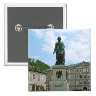Statue of Mozart in Salzburg Button