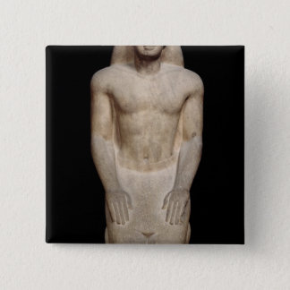 Statue of Nakhtorheb kneeling Pinback Button