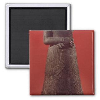 Statue of Napirasu, wife of Elamite King 2 Inch Square Magnet