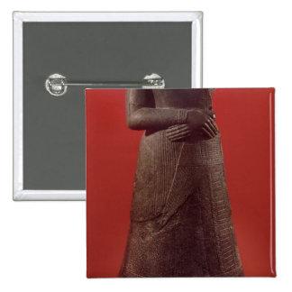 Statue of Napirasu wife of Elamite King Pinback Buttons