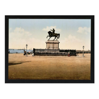 Statue of Napoleon I, Cherbourg, France classic Ph Postcard