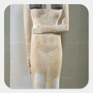 Statue of Nesa, Old Kingdom Square Sticker