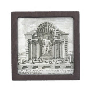 Statue of Olympian Zeus, made by Phidias in gold a Premium Gift Box