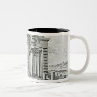Statue of Olympian Zeus, made by Phidias in gold a Two-Tone Coffee Mug