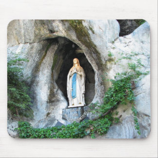 Statue of Our Lady of Lourdes, Lourdes, France Mouse Pad