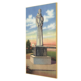 Statue of Padre Garces in Garces Circle Canvas Print