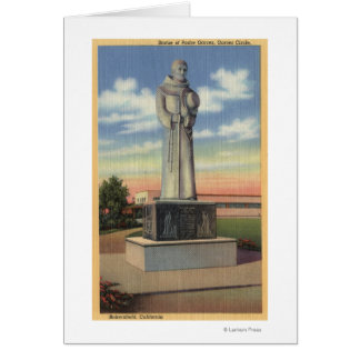 Statue of Padre Garces in Garces Circle Card