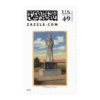 Statue of Padre Garces in Garces Circle Postage Stamp