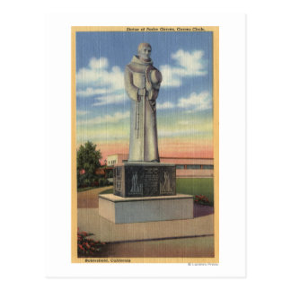 Statue of Padre Garces in Garces Circle Postcard