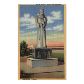 Statue of Padre Garces in Garces Circle Poster