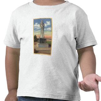 Statue of Padre Garces in Garces Circle Shirt