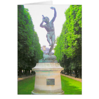 Statue of Pan, Luxembourg Garden, Paris France Card