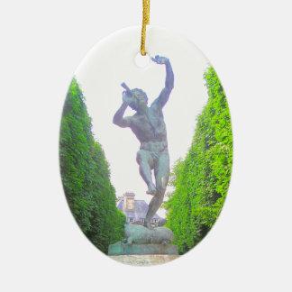 Statue of Pan, Luxembourg Garden, Paris France Ceramic Ornament