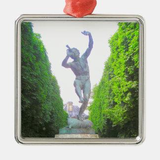 Statue of Pan, Luxembourg Garden, Paris France Metal Ornament