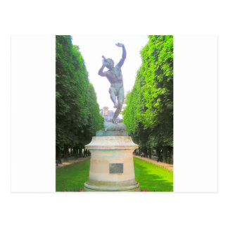 Statue of Pan, Luxembourg Garden, Paris France Postcard