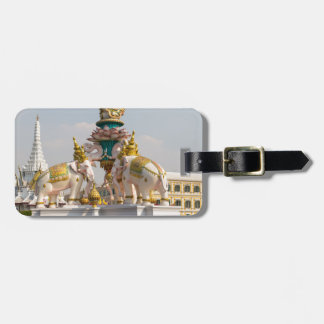 Statue of pink elephants Bangkok Thailand Luggage Tag