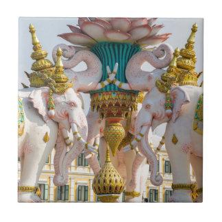 Statue of pink elephants Bangkok Thailand Tile