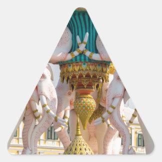 Statue of pink elephants Bangkok Thailand Triangle Sticker