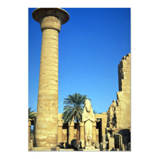 "Statue of Pinodjem I, Karnak Temple, Egypt 5"" X 7"" Invitation Card"