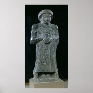 Statue of Prince Gudea, c.2150 BC Poster