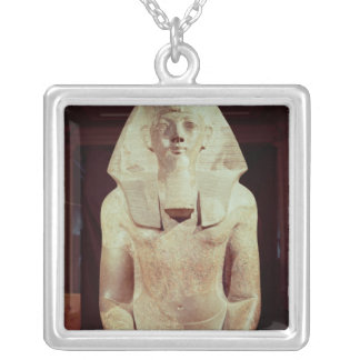 Statue of Queen Makare Hatshepsut Silver Plated Necklace