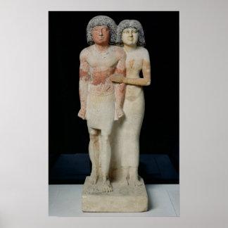 Statue of Raherka and Meresankh, Old Kingdom Poster