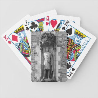 Statue of Robert the Bruce at Edinburgh Castle Bicycle Playing Cards